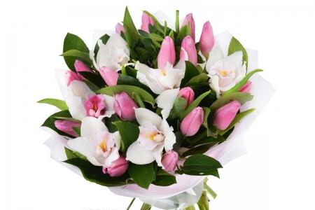 с орхидеей
